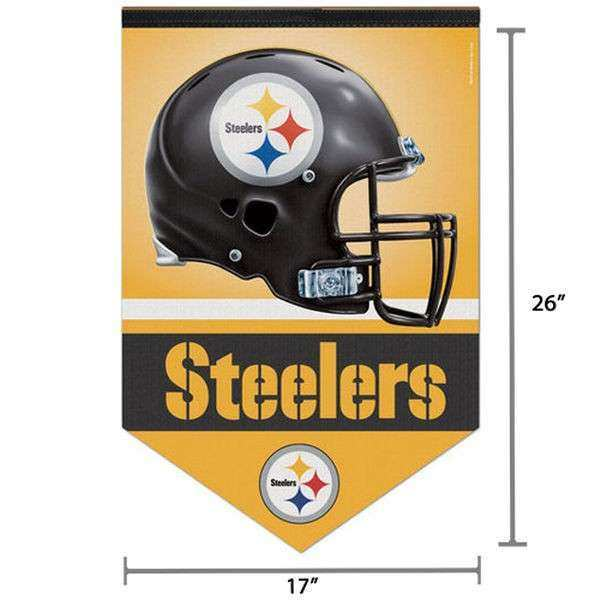 "Pittsburgh Steelers WinCraft 17"" x 26"" MVP Premium Quality"