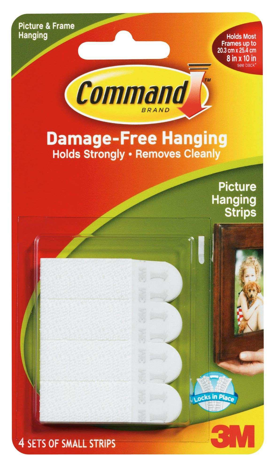 3M mand White Adhesive Picture Hanging Strip 4