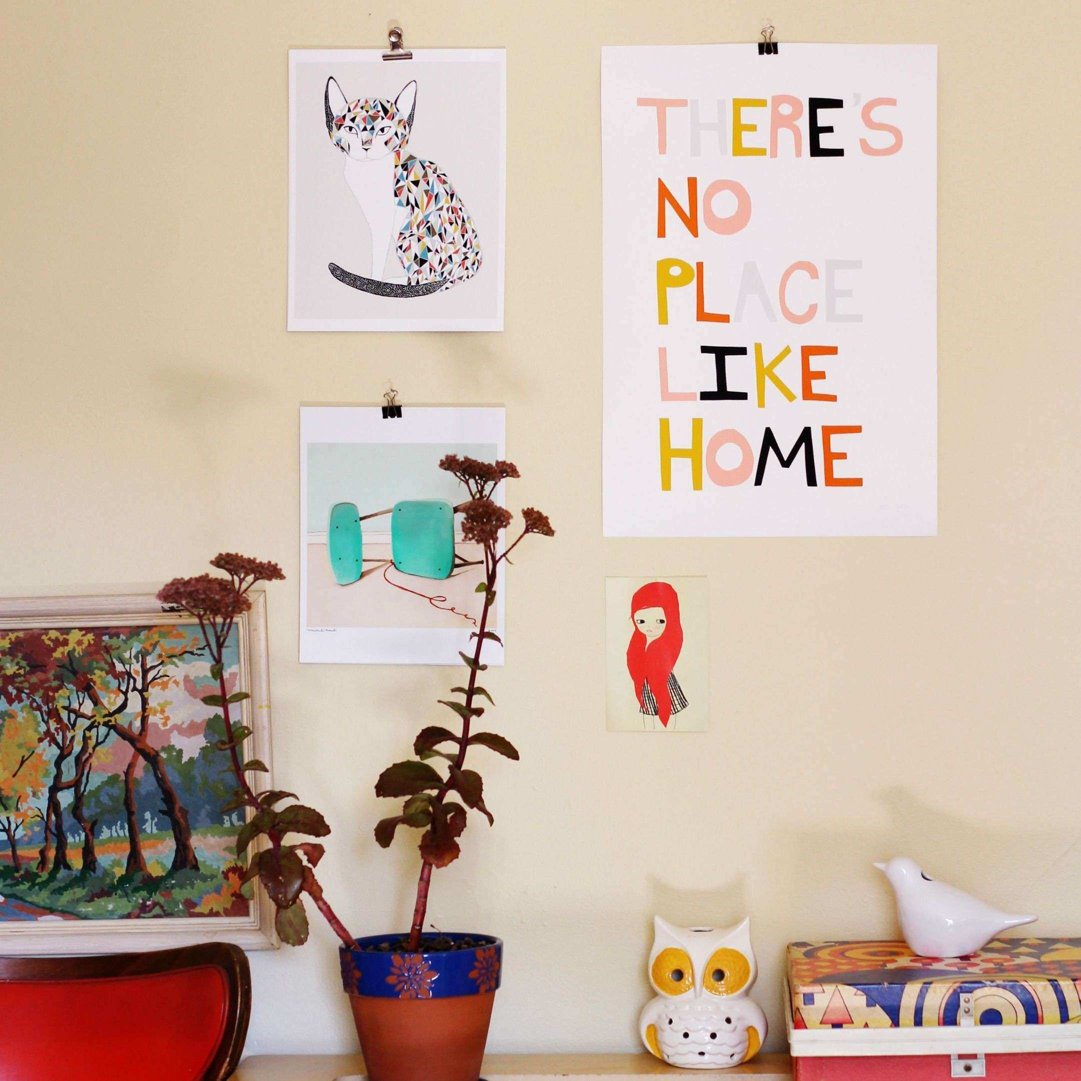 Hang your art prints with binder clips DIY Those sticky mand