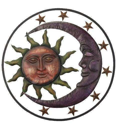 Wall Art Metal Sun Moon Stars