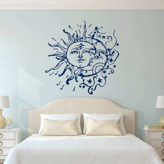 Sun Moon Stars Wall Decals For Bedroom Sun and Moon Wall