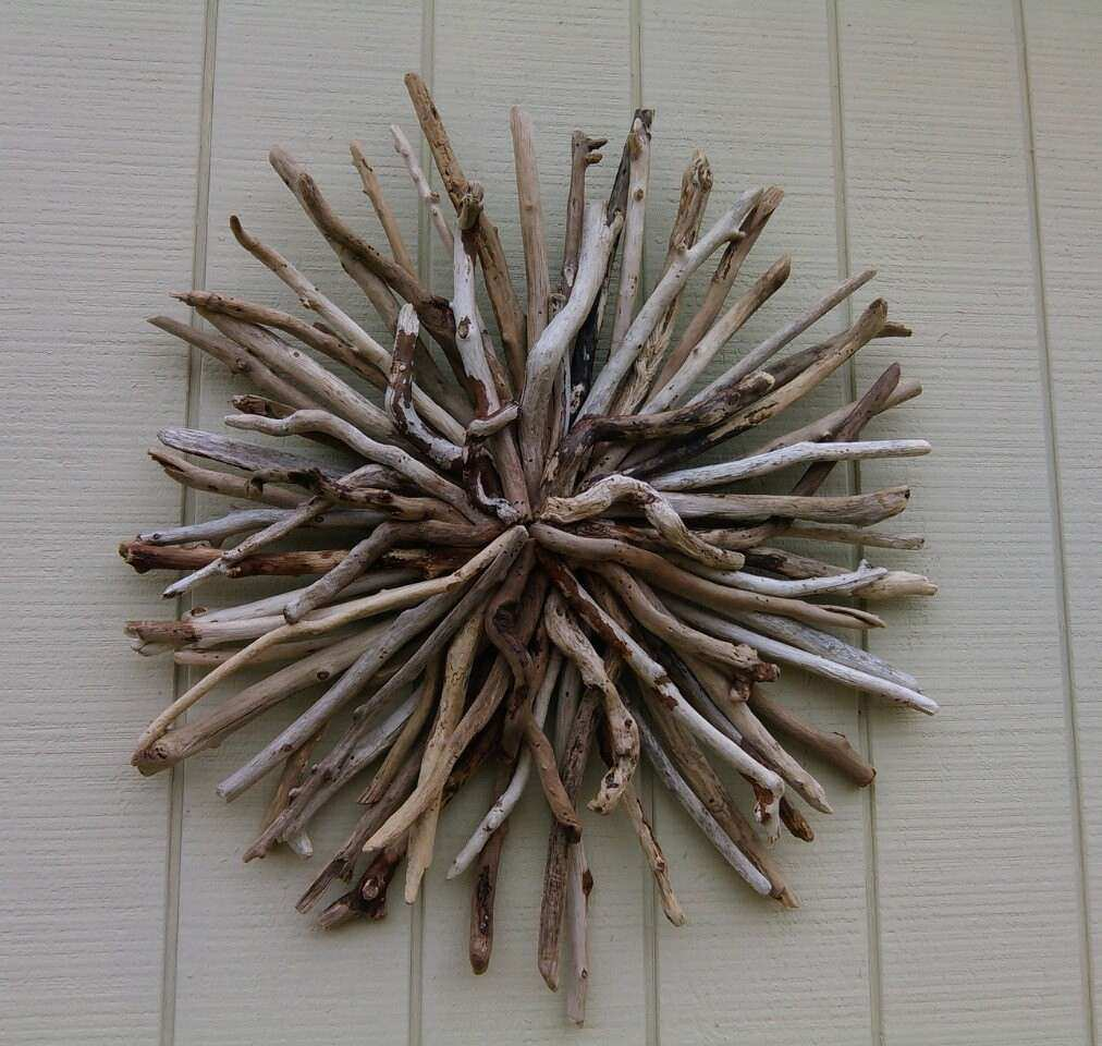 Sun Wall Decor Outdoor Inspirational Outdoor Sunburst Wall Art Round Driftwood  Wall Sculpture Hand