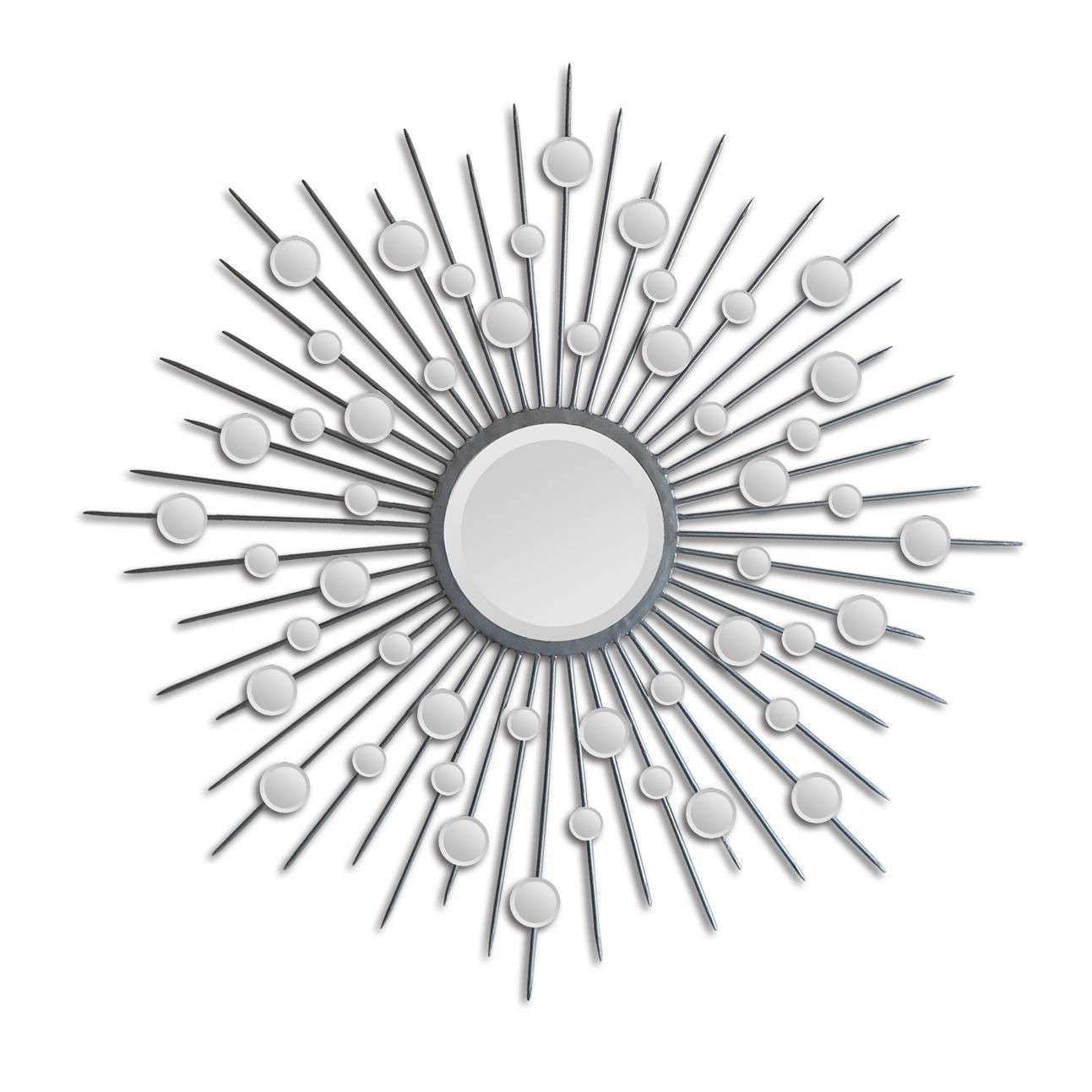Sunburst Mirror Wall Decor New Art Designs Silver