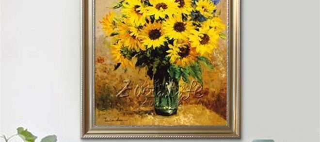 Sunflower Wall Art Fresh Unframed Canvas Picture Sunflower Wall Art ...