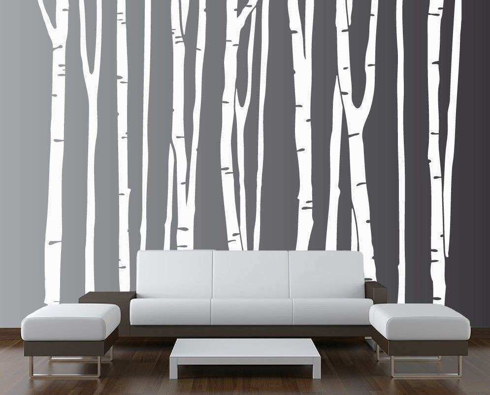 Wall Birch Tree Decal Forest Vinyl Sticker Removable