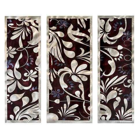 Metallic Bloom Metal Wall Art Tar