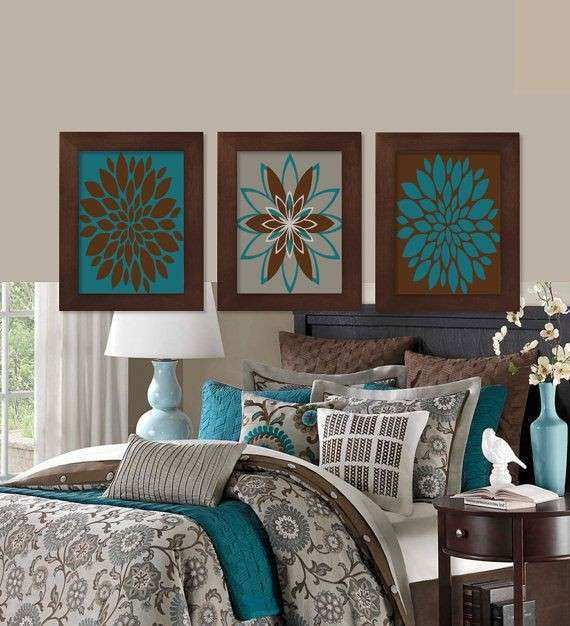 Wall Decor Nice Teal and Brown Wall Decor Teal And Brown