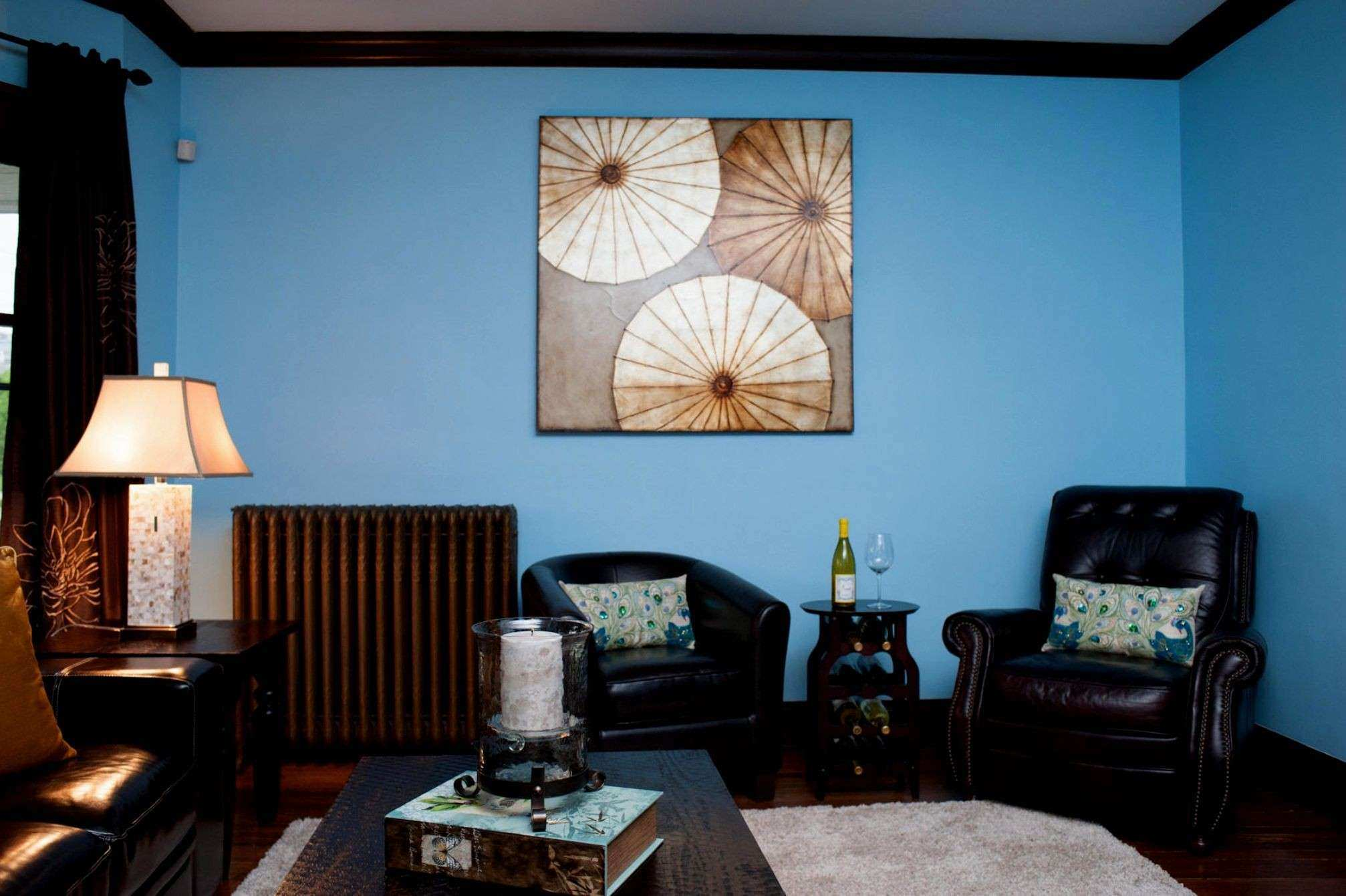 Fancy Teal and Brown Wall Decor Ideas