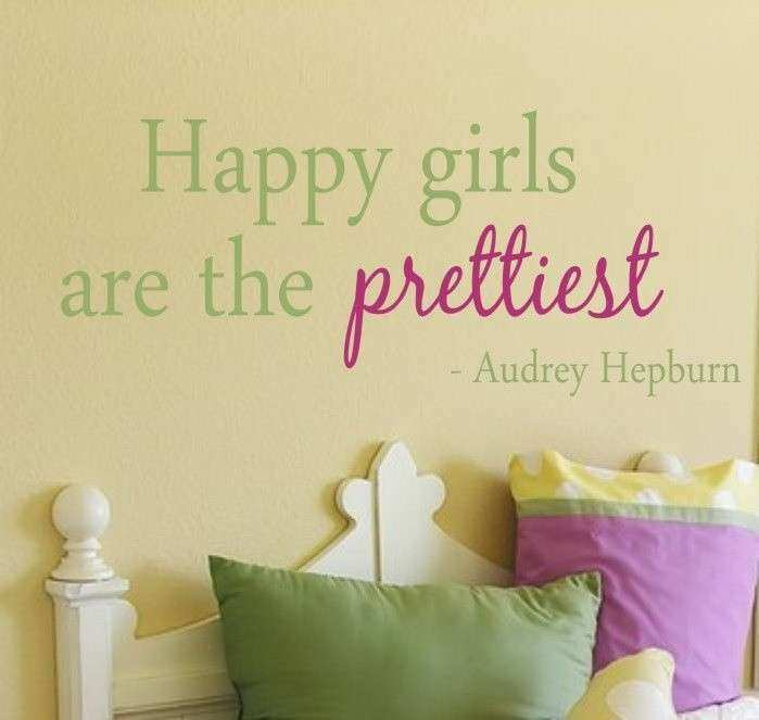 Teen Girl Wall Decor Luxury Happy Girls are the Prettiest Quote ...