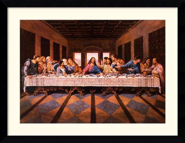 Last Supper Framed Print by William Ternay Traditional