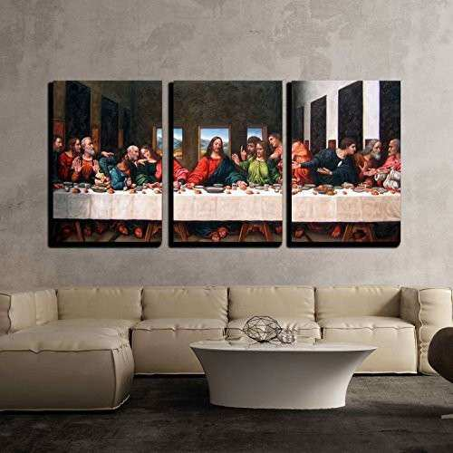 Wall26 3 Piece Canvas Wall Art the Last Supper by
