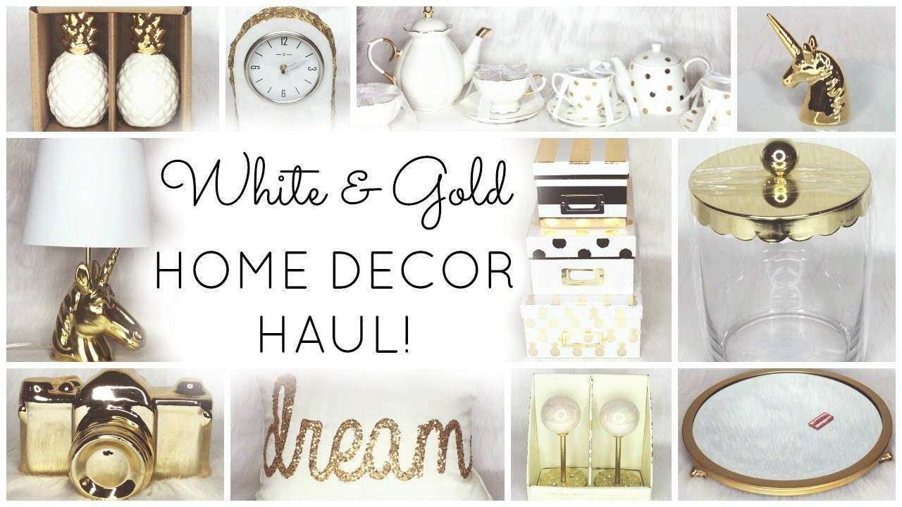 Tj Maxx Wall Decor Elegant White U0026amp; Gold Home Decor Haul ♡ Homegoods Tar  World