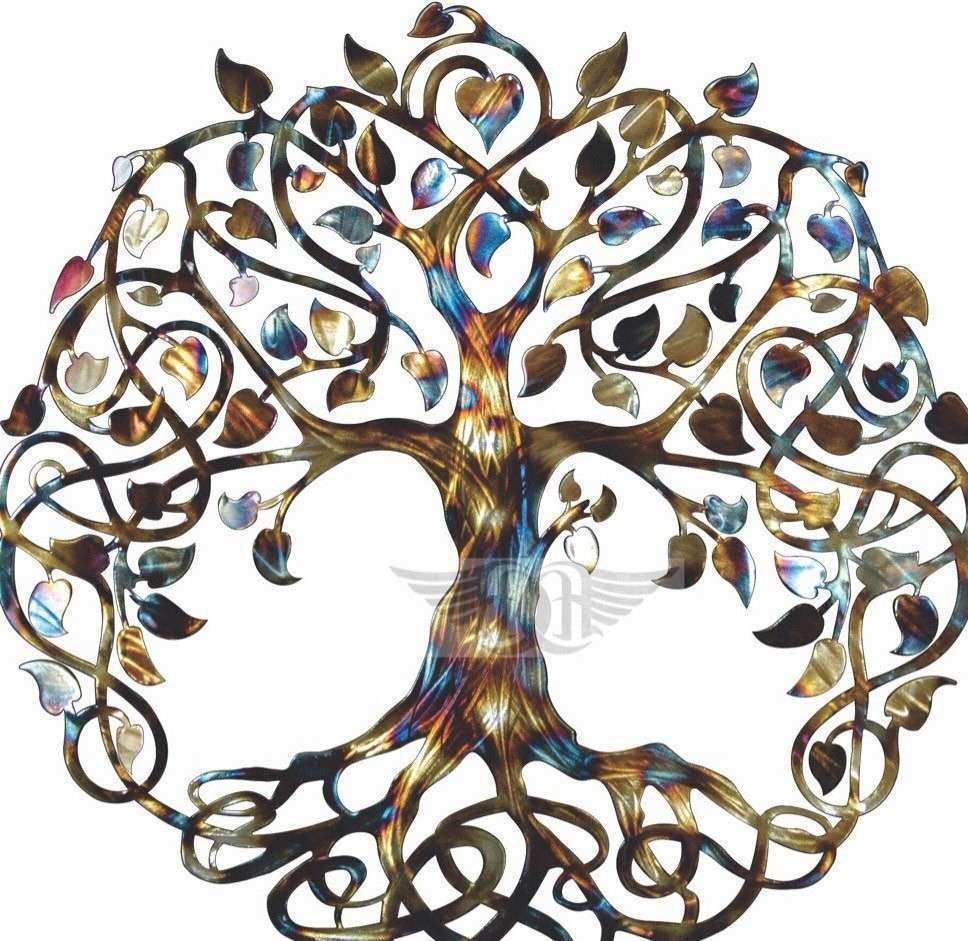 Infinity Tree Tree of Life Metal Wall Art Metal Tree Art