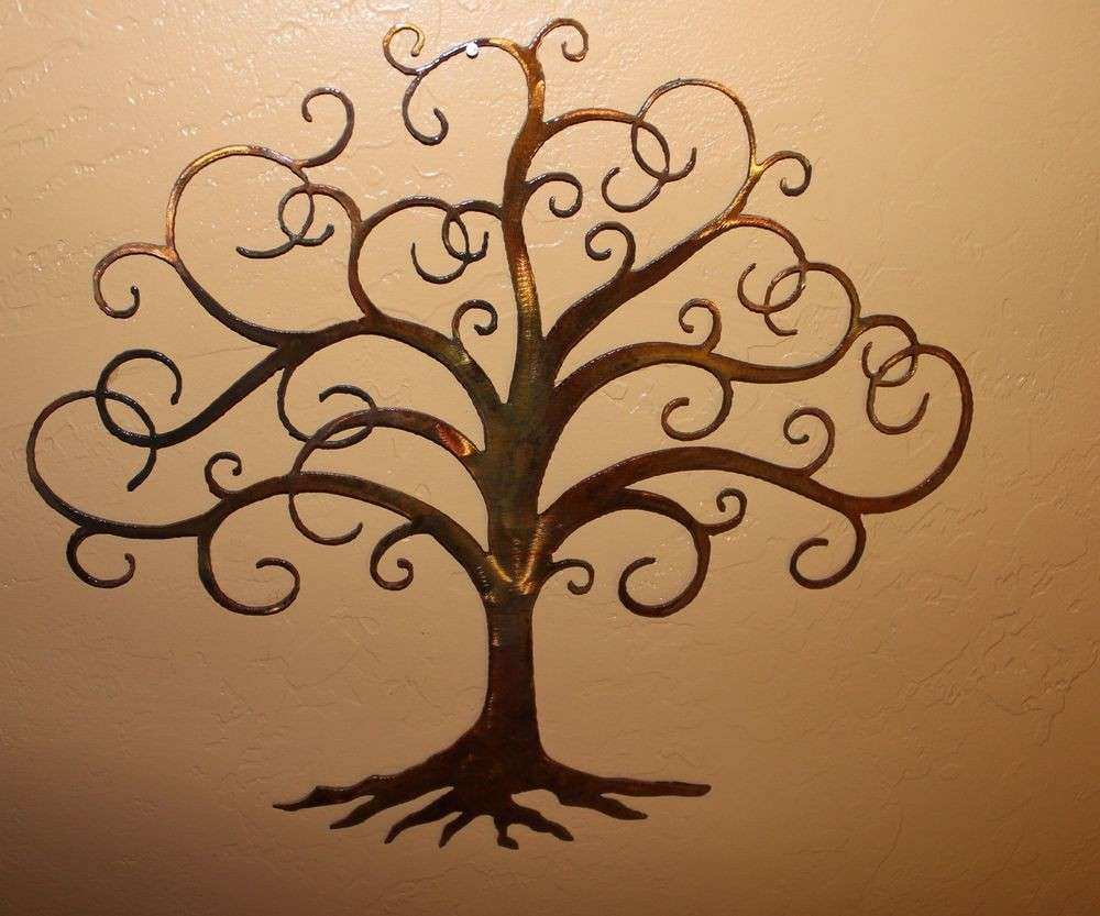 "Swirled Tree of Life 30"" tall Metal Wall Art Decor by HGMW"
