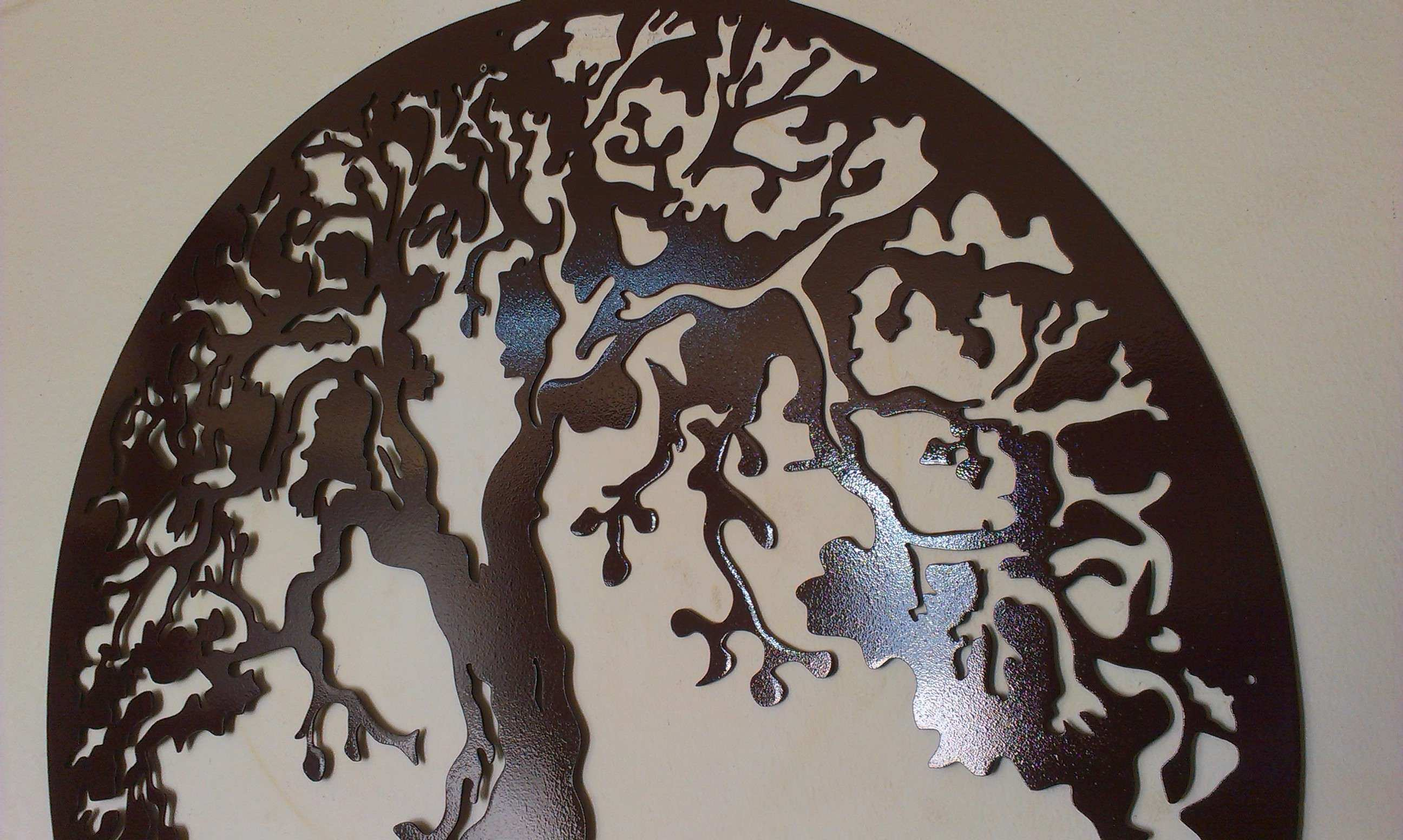 Tree Life Framed Antique Look Wall decor Metal Art