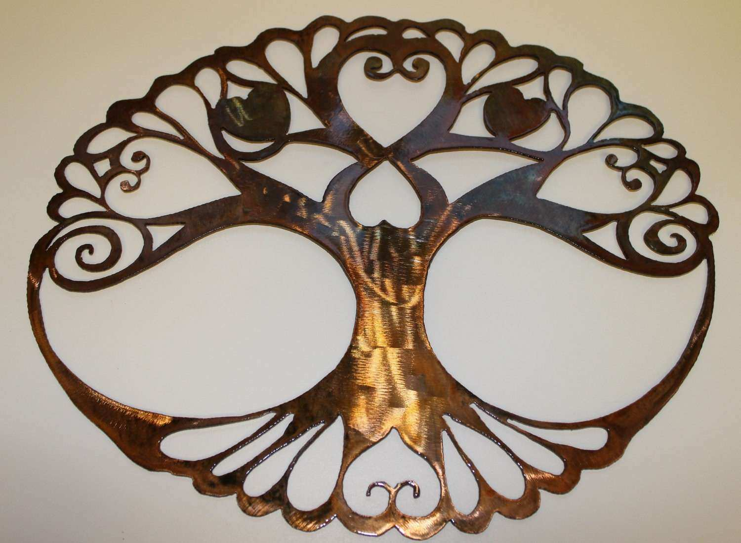 Oval Tree of Life Metal Wall Art Decor by by