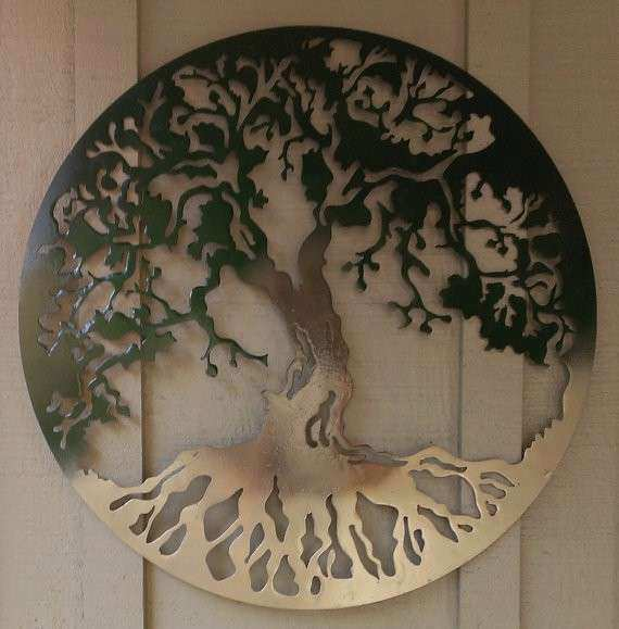 "Items similar to 20"" Tree of Life Metal Wall Art on Etsy"