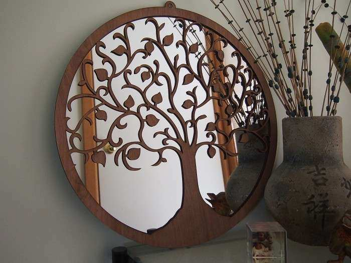 Tree of Life Wall Art MIrror Blue Merle Milli