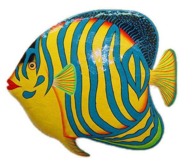 Tropical Fish Metal Wall Art Lovely Bright Tropical Fish Recycled ...