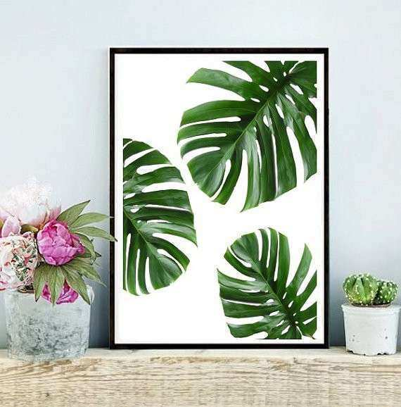 Tropical Wall Art Fresh Tropical Leaf Printable Art Monstera Leaves By
