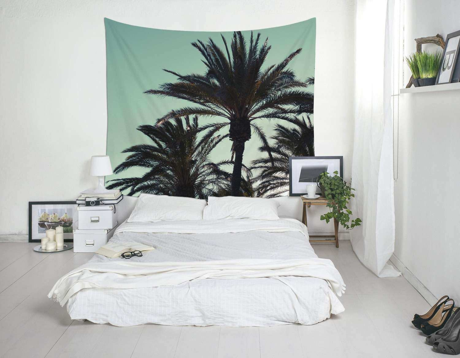 art large wall to latest recently palm released leaf decor decal tree regard with vinyl most decors tropical