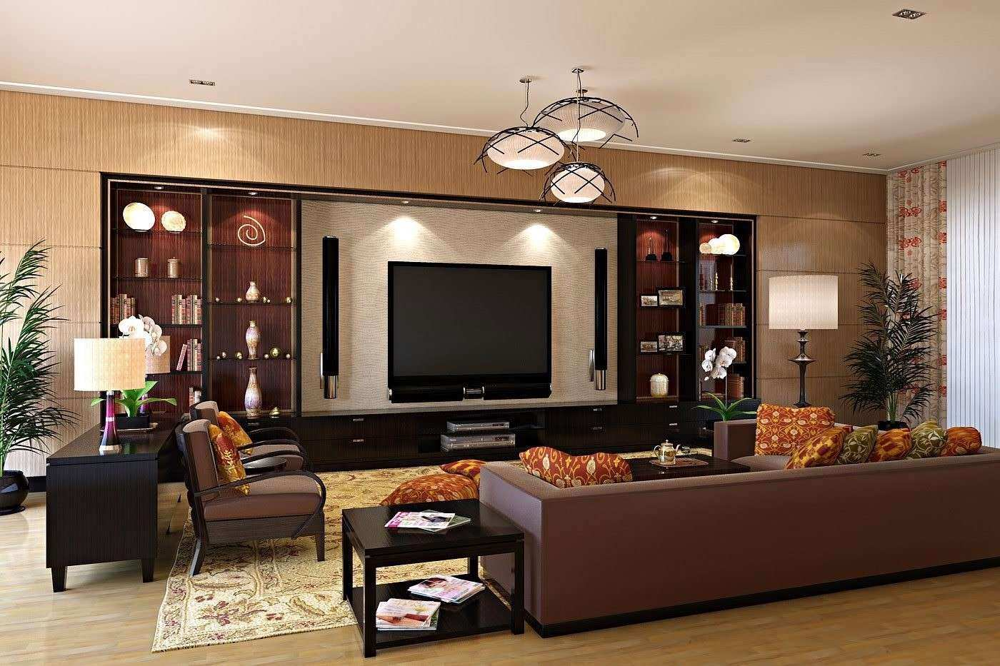 with wall decor cream cabinets room concept decoration of ideas living tasteful design for tv interior size photos full