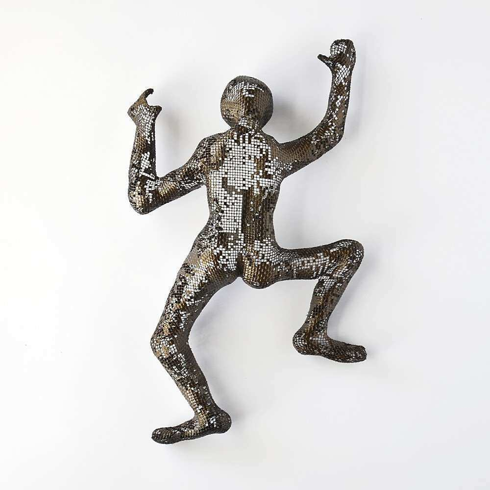 Climbing Figure metal wall art Unique t wire mesh