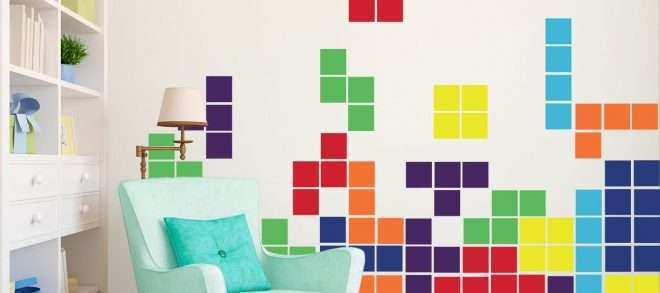 Video Game Wall Art Beautiful This Tetris Inspired Home Decor Will Fit Perfectly Into