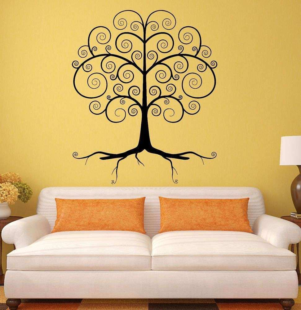 Vinal Wall Decor Lovely Wall Decal Beautiful Tree forest Woodland ...