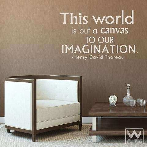 Word Is A Canvas Art Wall Sticker Quote Vinyl Decal