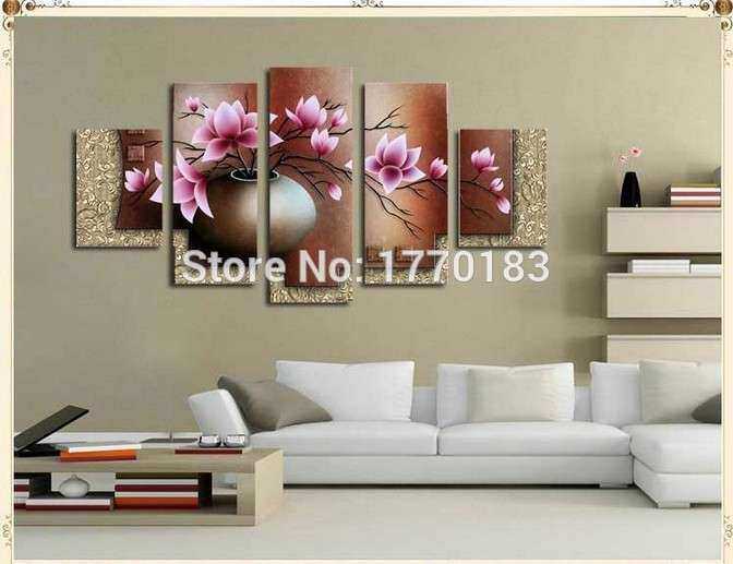 5 Piece Wall Art Decor Picture Set Hand painted