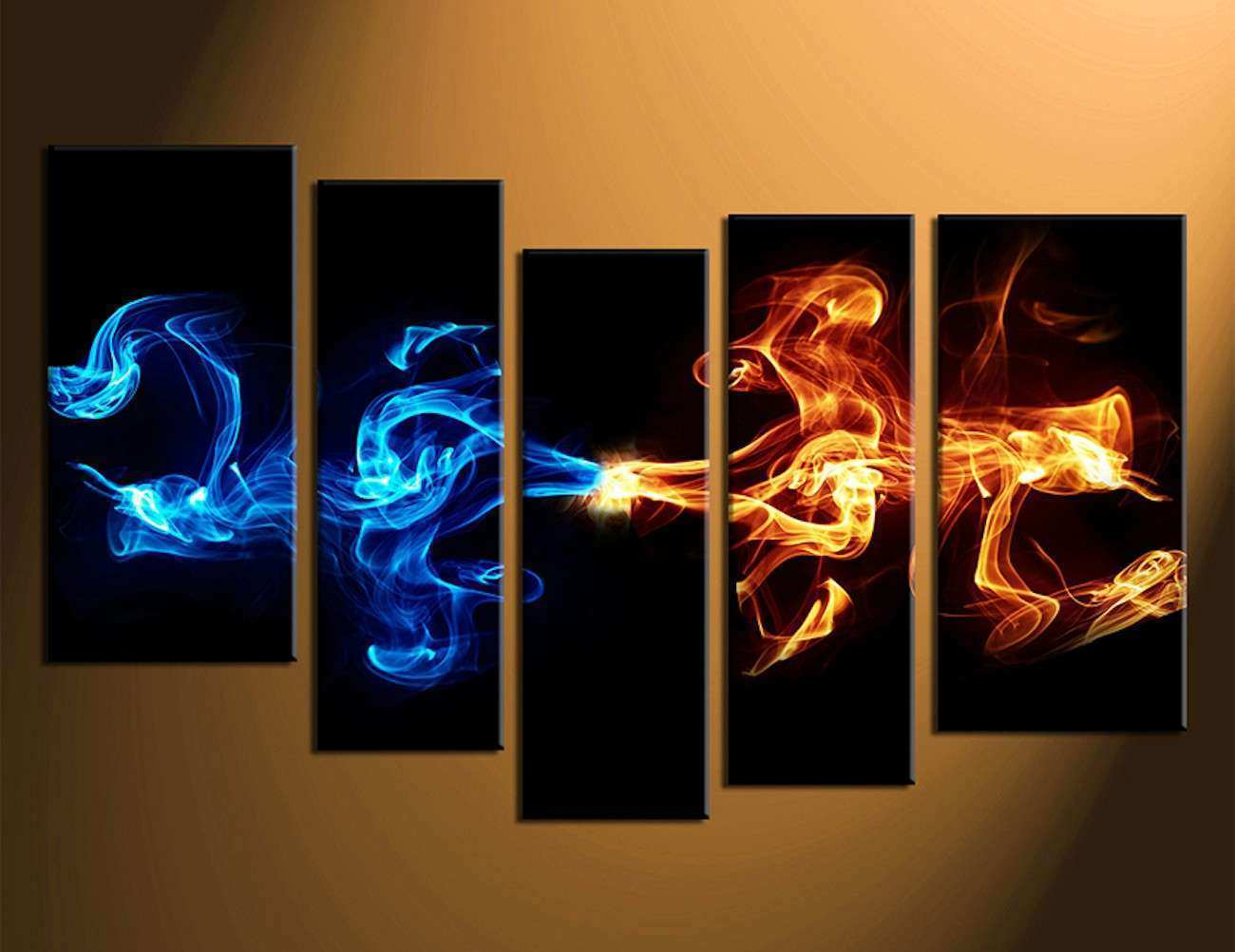 Abstract 5 Piece Smoke Canvas Wall Art Gad Flow