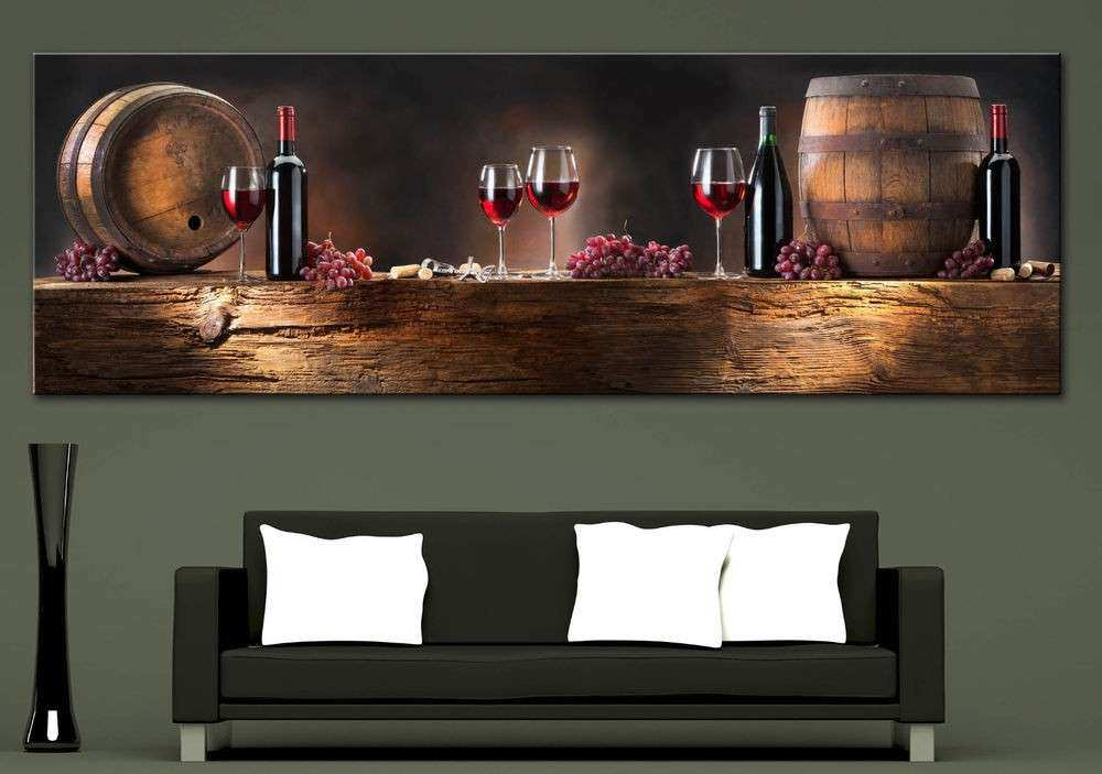 Wall Art Canvas Print Wine position Picture Home Wall