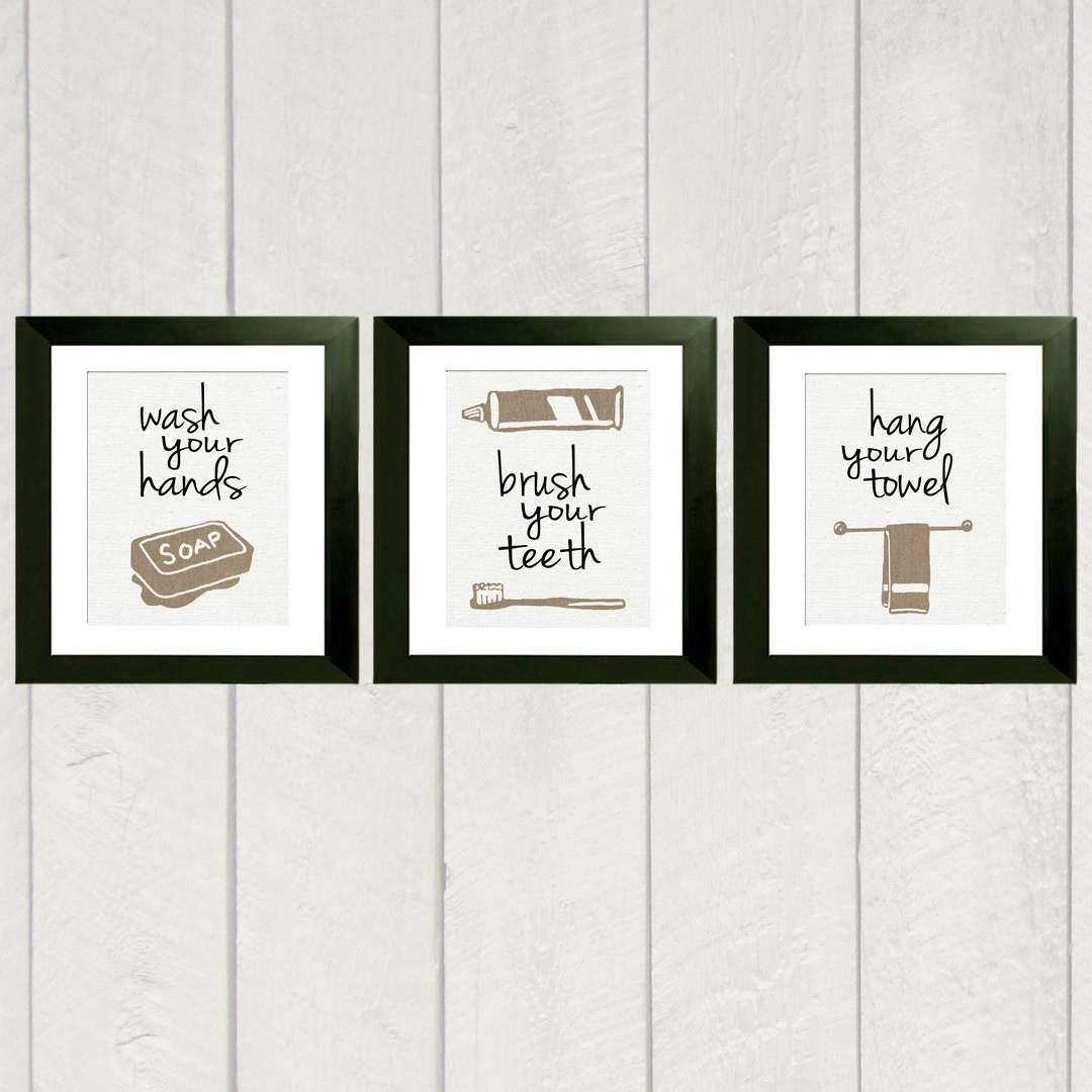 Wall Art For Bathroom Unique Print Set Of 3 Rh Emilygarrisonphotography Com Prints Framed Printable