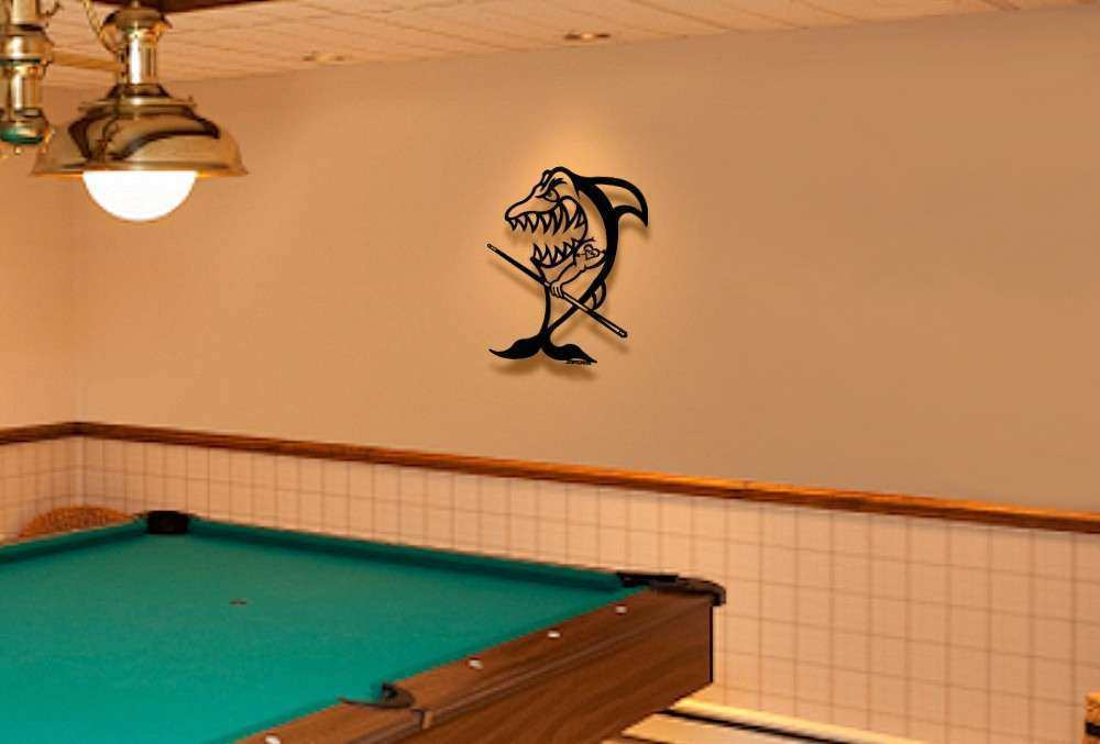 3D Metal Wall art sculpture Pool Shark – Mom tattoo Game