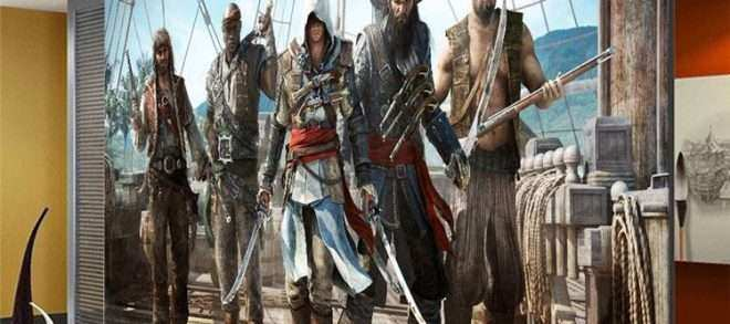 Wall Art for Game Room Lovely assassion S Creed Wallpaper Video Game Wall Mural 3d View
