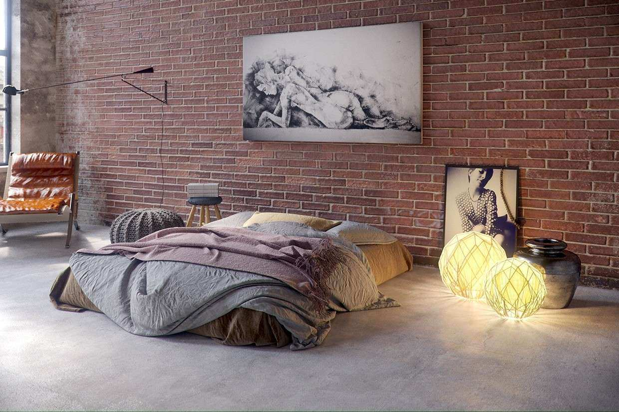 Unique and Artistic Bedroom Design With Simple Furniture