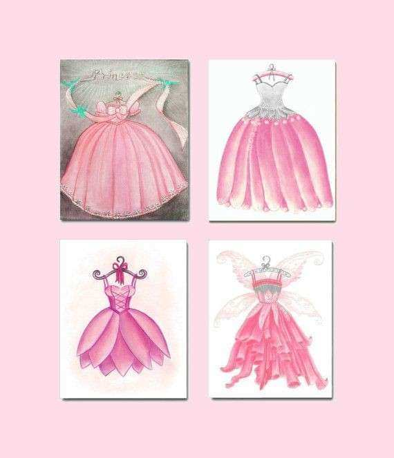 Baby Girl Nursery Kids Wall Art Pink Fairy Nursery