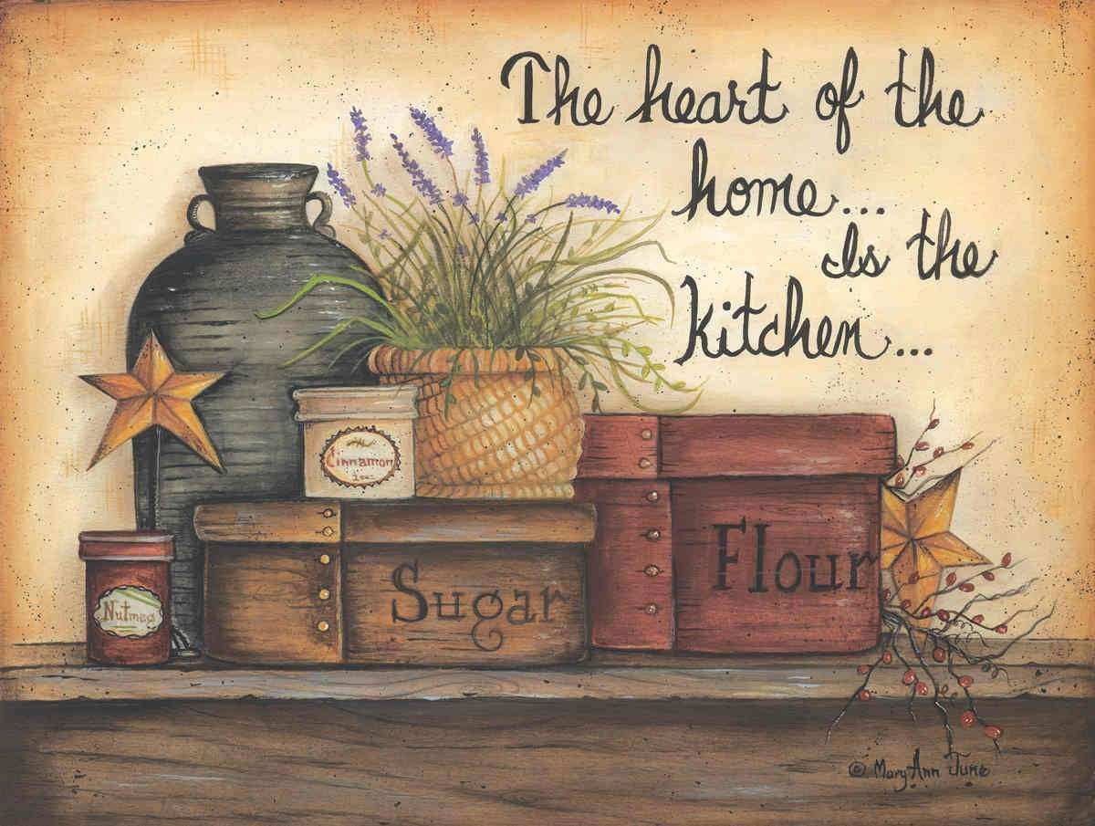 Heart of the Home is the Kitchen by Mary Ann November