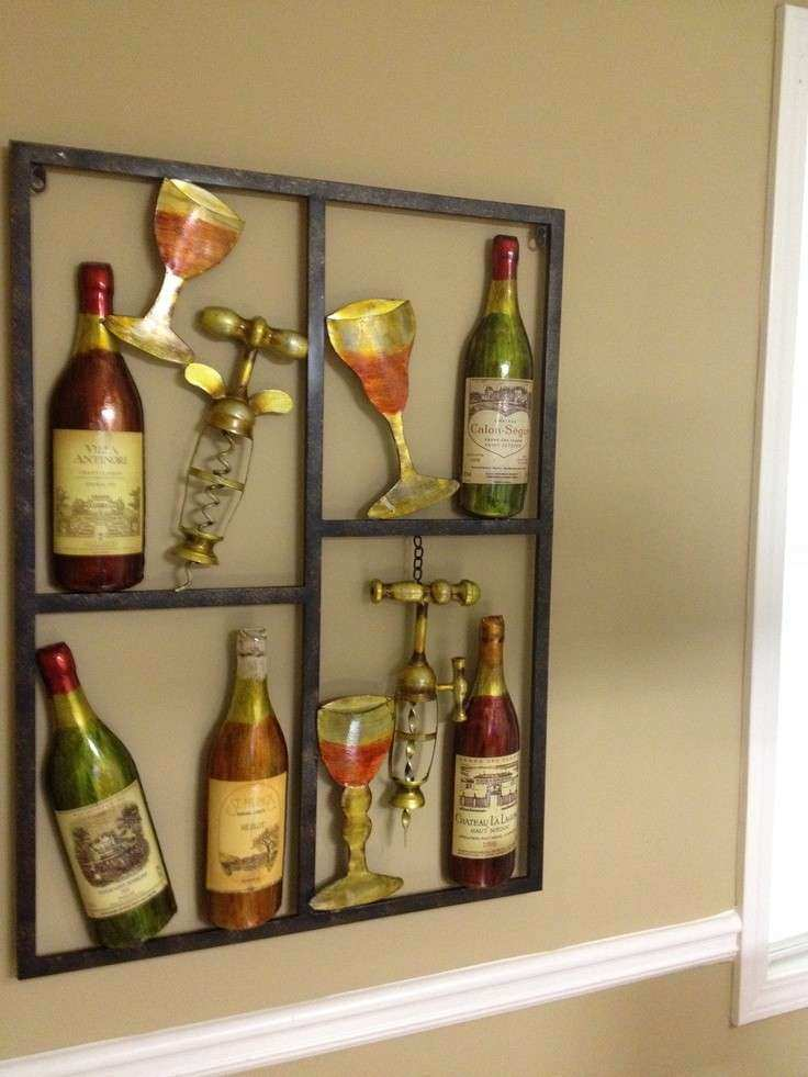 Wine metal wall art for the Kitchen
