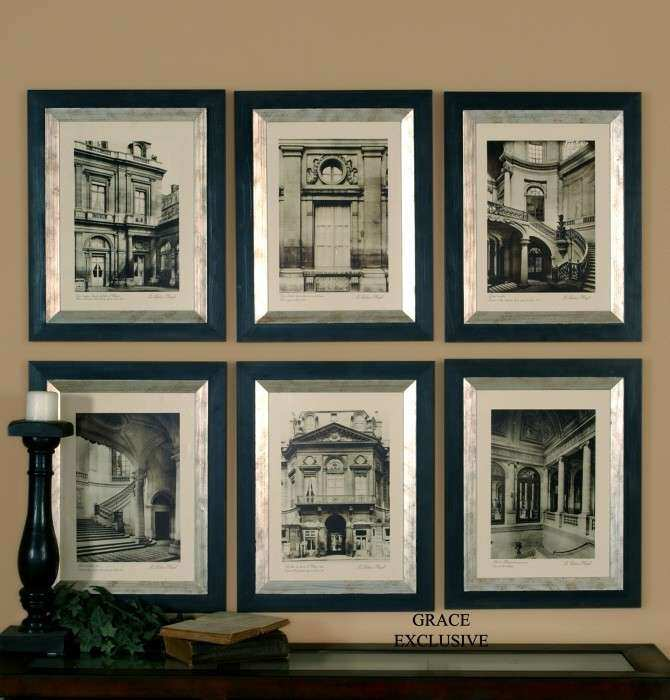 Wall Art Framed Sets Unique Paris Scene Framed Art Set Of 6 From ...