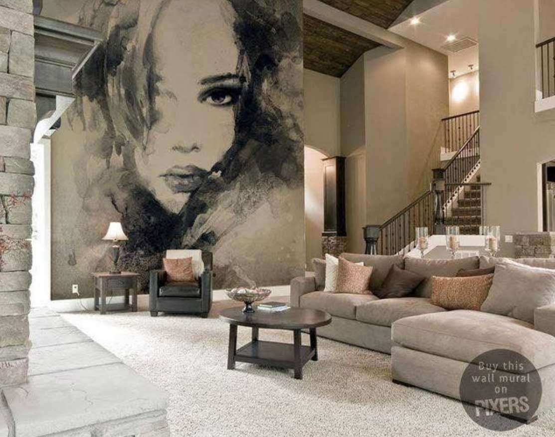 Wall Art Ideas For Large Wall Elegant Living Room Wall Decor Mural