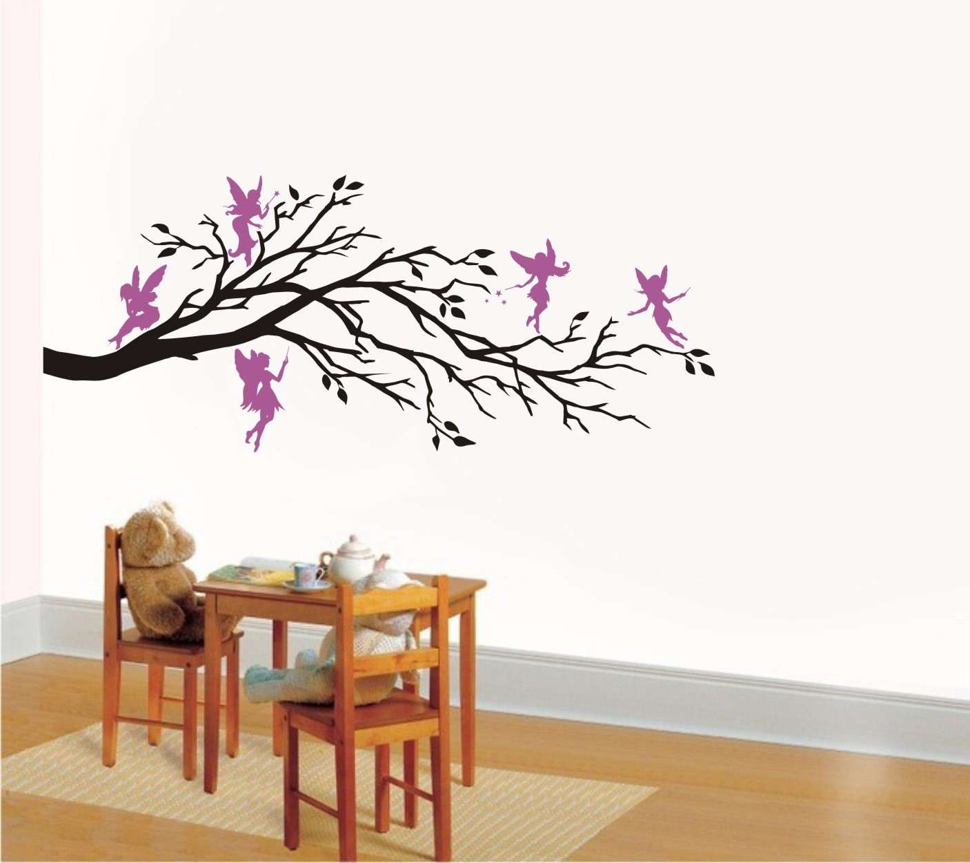 Wall Art Vinyl Decal Fantasy FIVE FAIRIES And BRANCH