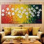 Wall Art Paintings For Living Room Awesome Handmade Modern Oil Painting Canvas Abstract Flowers Of Wall Art Paintings For Living Room
