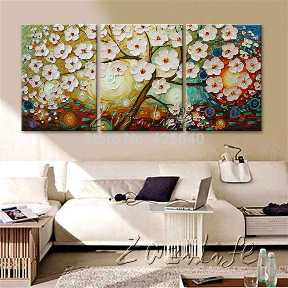 Aliexpress Buy Oil Painting 3 Panel 3 Piece Canvas