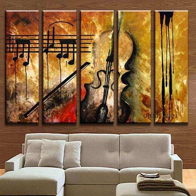 Aliexpress Buy Hand Painted Music Paintings For
