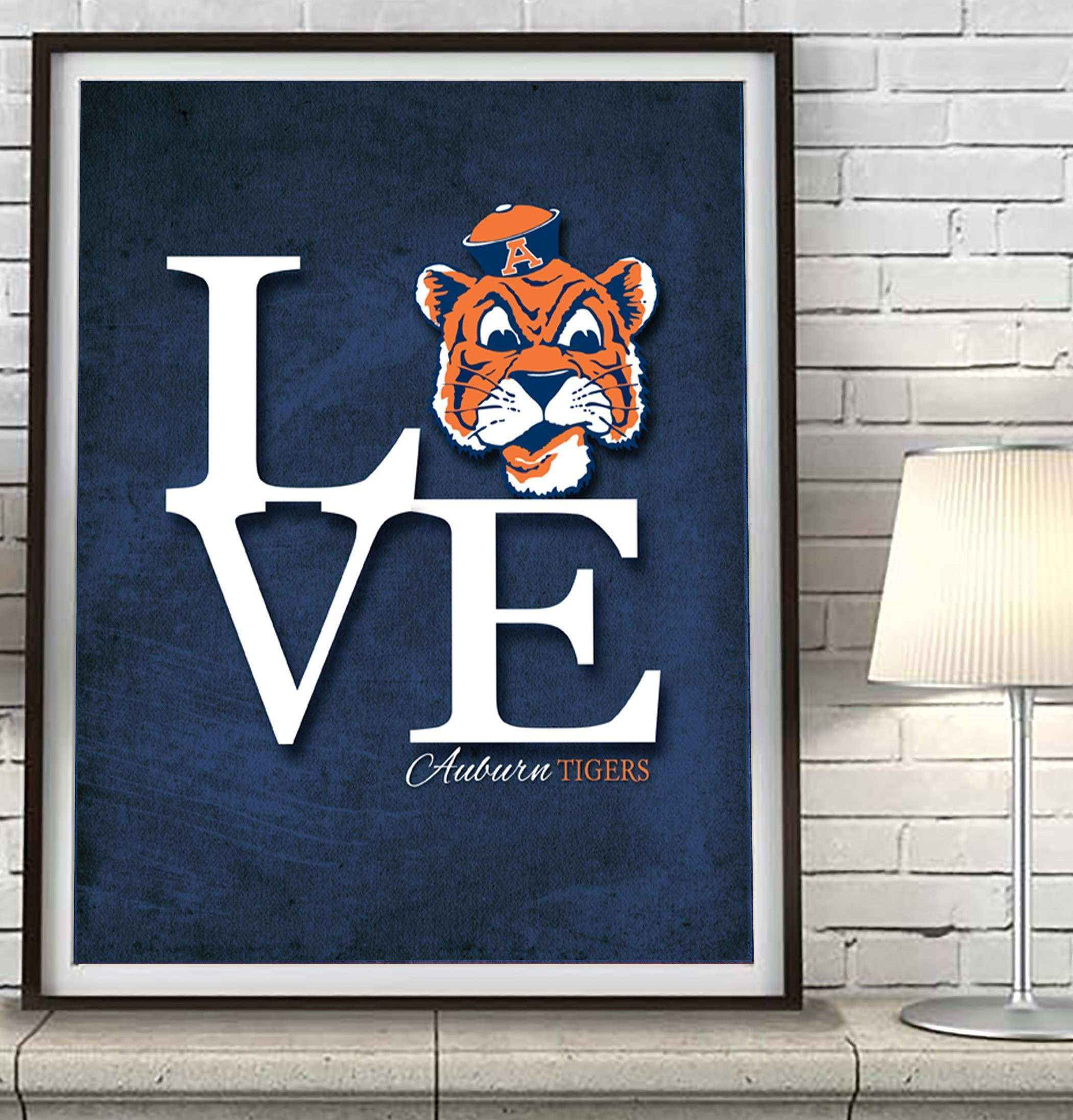 "Georgia Tech Yellow Jackets ""Love"" Art Print Poster Gift – Parody"
