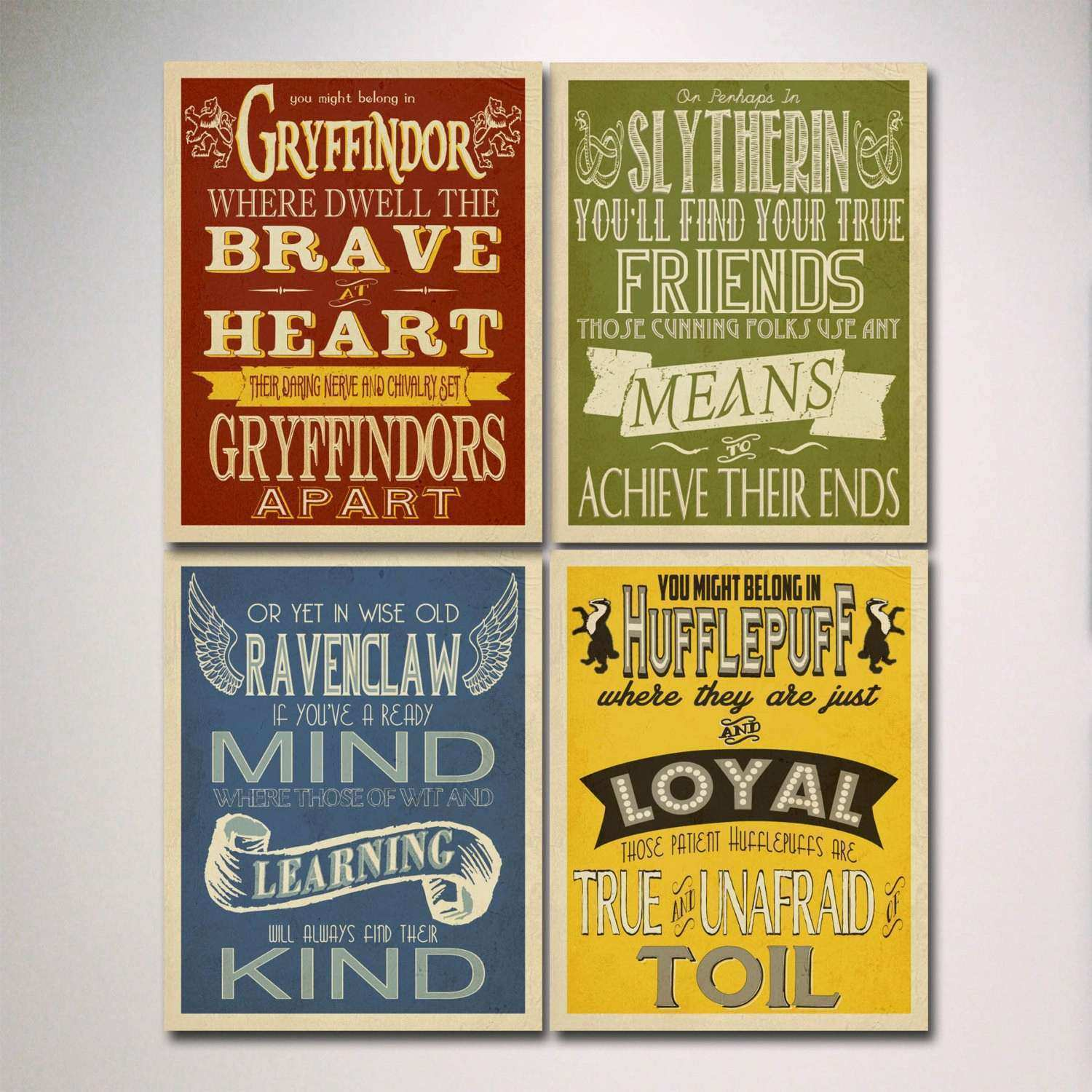 Wall Art Posters Prints New Harry Potter House Posters Prints ...