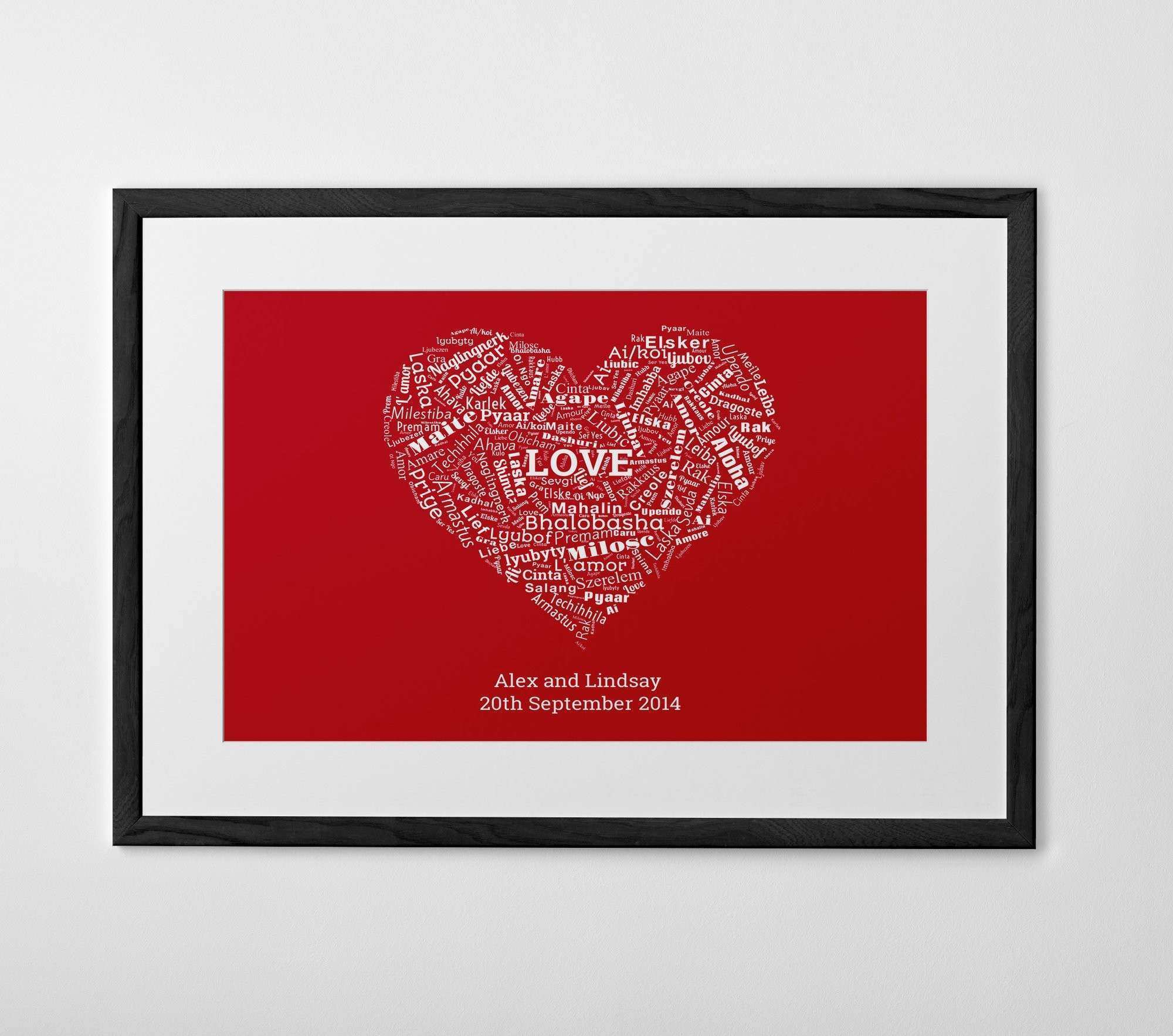 Personalised Words Print Poster or Canvas Posterhaste
