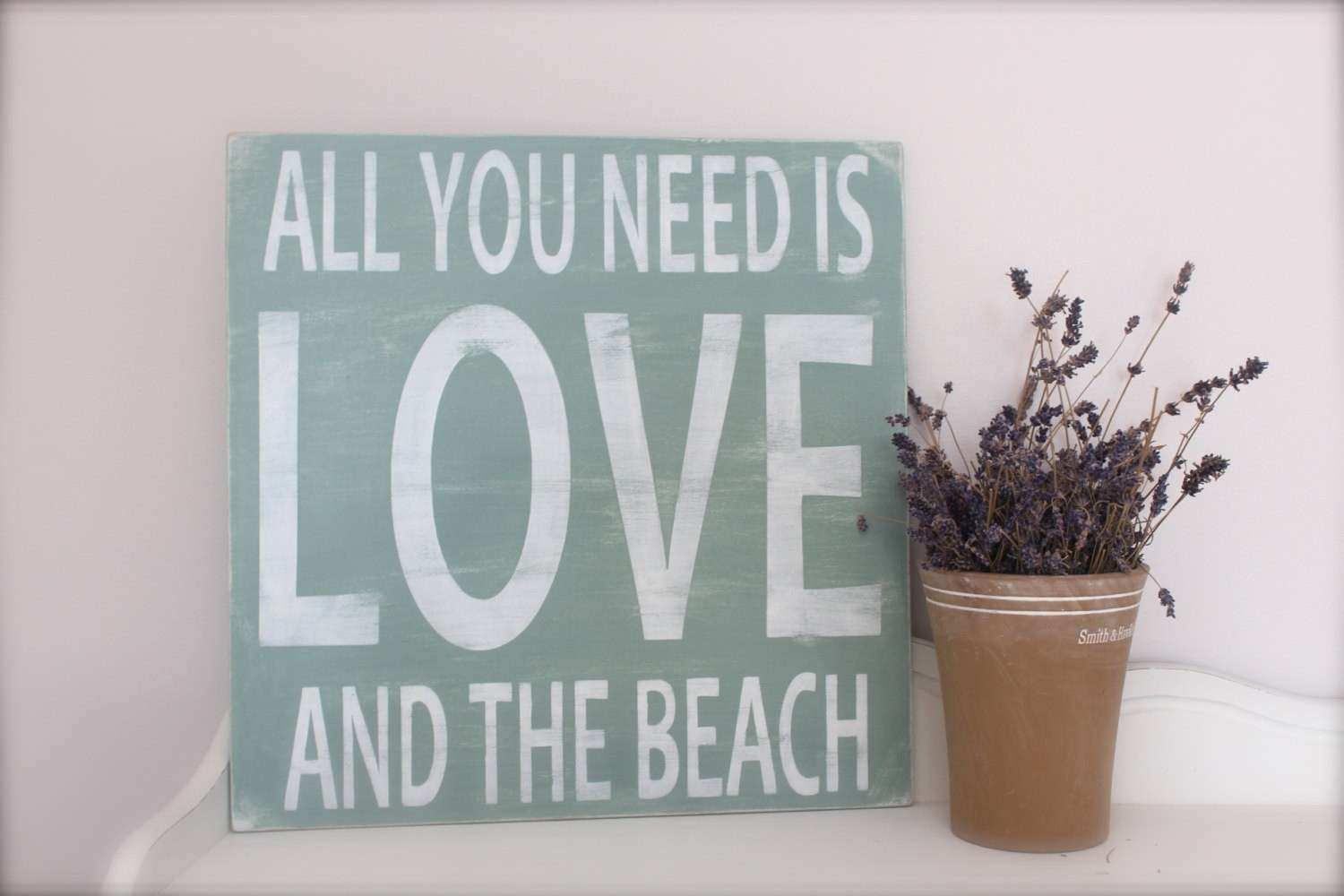 Beach Sign Wall Art Custom Wood Sign Beach Quote Quote by